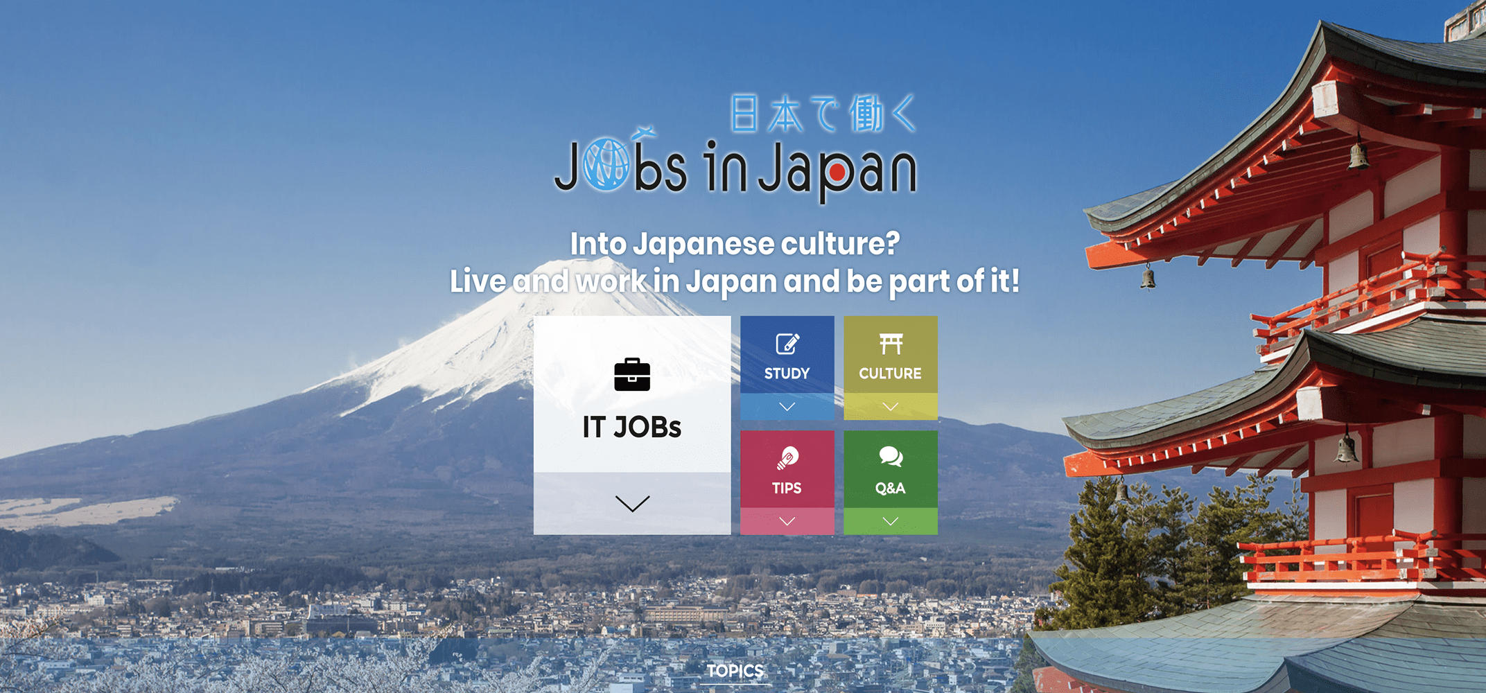 "A jobsite launched for foreign IT specialists wanting to work in Japan. ""Jobs in Japan"""